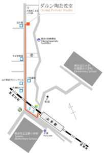 横浜 ダルン陶芸教室地図